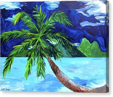 Tahiti Beach Canvas Print by Beth Cooper