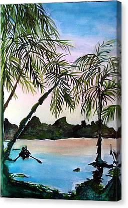 Tahiti Canvas Print by Mindy Newman
