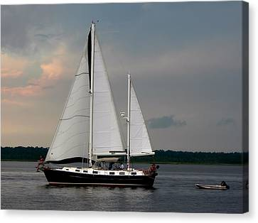 Tahiti Under Sail Canvas Print