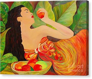 Tahitian Mangos Canvas Print by Dorota Nowak
