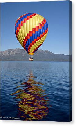 Canvas Print featuring the photograph Tahoe Balloon. by Mitch Shindelbower