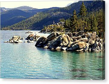 Canvas Print featuring the photograph Tahoe Morning by Lynn Bawden