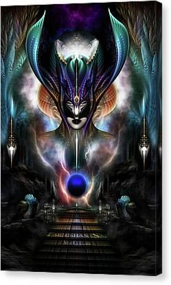 Taidushan Sai - Spirit Of Power Wd Fractal Portrait Canvas Print