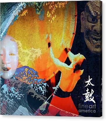 Taiko Drumming Canvas Print