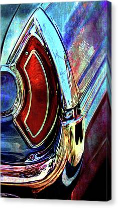 Canvas Print featuring the digital art Tail Fender by Greg Sharpe