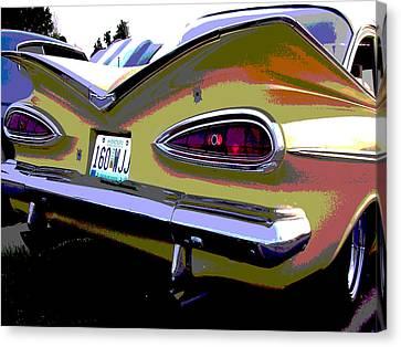 Tail Fins Canvas Print by Audrey Venute
