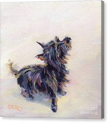 Tail Wagging Fury Canvas Print by Kimberly Santini