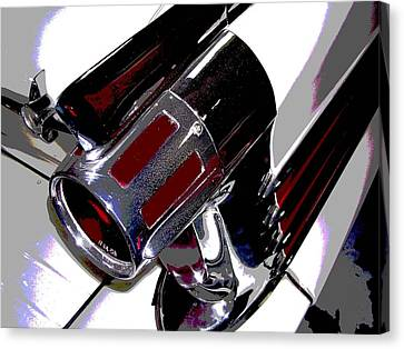 Taillight Canvas Print by Audrey Venute
