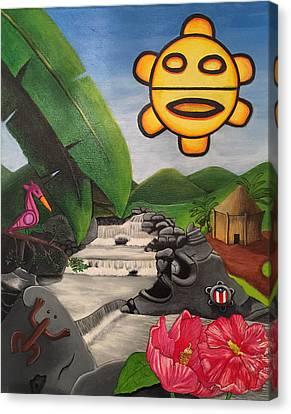 Taino Symbology Canvas Print by David Galarza