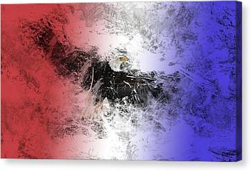 Tainted Eagle Canvas Print by Sean Holmquist