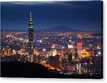 Taipei City And Taipei Canvas Print by Jhhuang