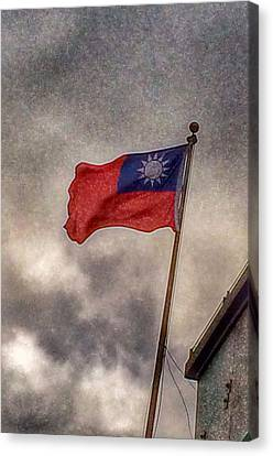 Taiwan Flag Canvas Print