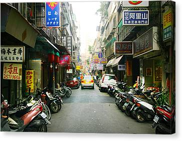 Taiwan Street Canvas Print by Isabel Poulin