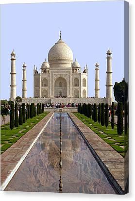 The Taj Mahal - Grand Canyon Mash-up Canvas Print