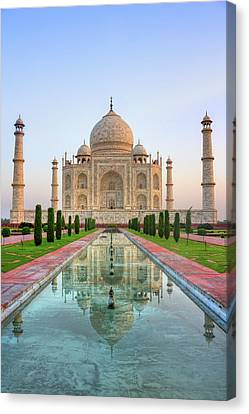 Taj Mahal, Agra Canvas Print by Pushp Deep Pandey / 2kPhotography