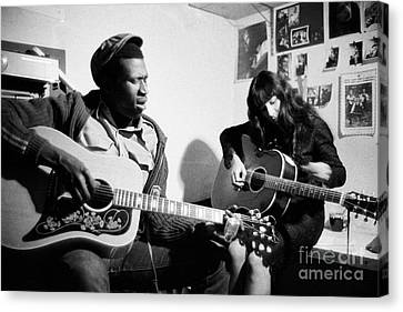 Taj Mahal And Buffy Sainte-marie  Canvas Print by The Harrington Collection