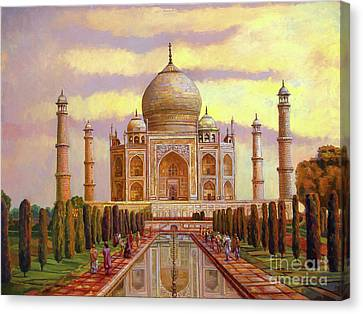 Taj Mahal Canvas Print by Dominique Amendola