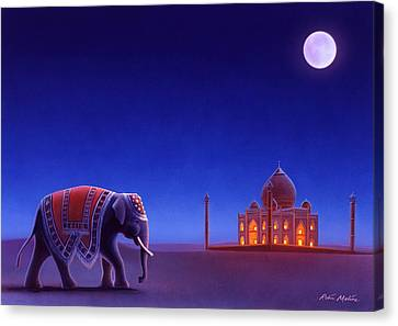 Taj Mahal Elephant Canvas Print