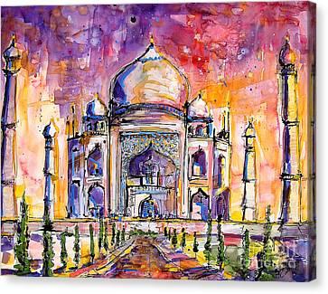 Taj Mahal Canvas Print by Ginette Callaway