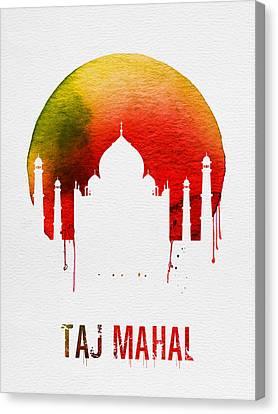 View Canvas Print - Taj Mahal Landmark Red by Naxart Studio