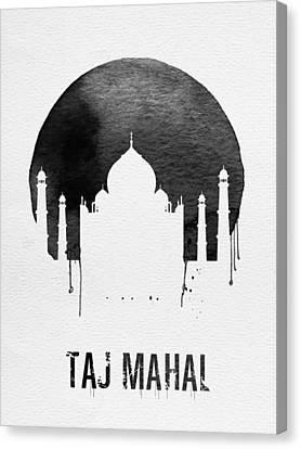 View Canvas Print - Taj Mahal Landmark White by Naxart Studio