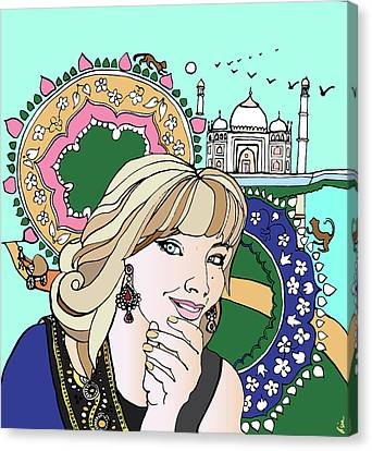 Taj Mahal Memories Canvas Print