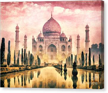 Taj Mahal Canvas Print by Mo T