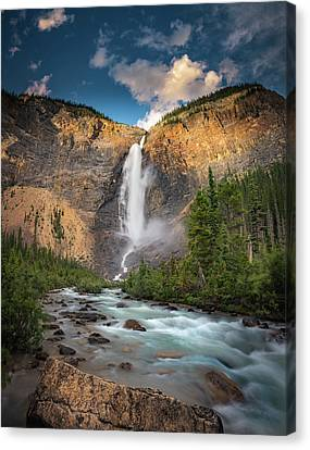 Canvas Print featuring the photograph Takakkaw Falls Of Yoho National Park by William Lee