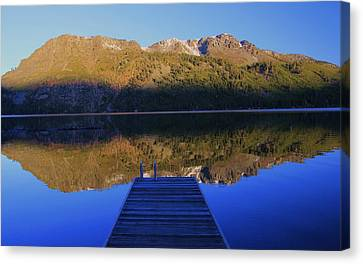 Canvas Print featuring the photograph Take A Long Walk Off A Short Pier  by Sean Sarsfield