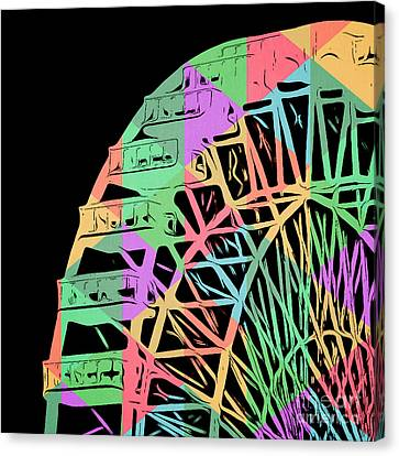 Take A Ride On The Ferris Wheel Canvas Print by Edward Fielding