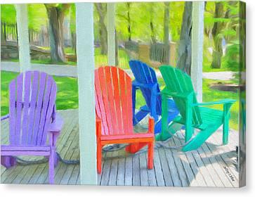 Take A Seat But Don't Take A Chair Canvas Print by Jeff Kolker