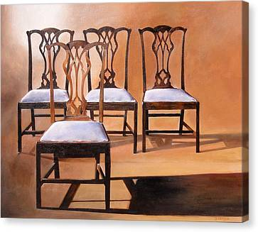 Take A Seat Canvas Print by Denise H Cooperman