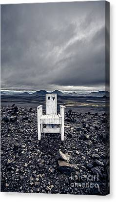 Canvas Print featuring the photograph Take A Seat Iceland by Edward Fielding