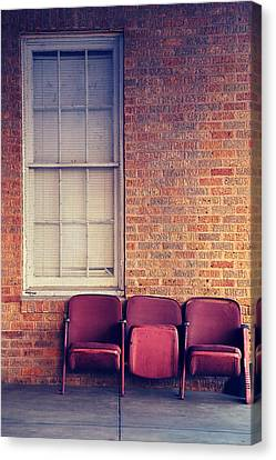 Canvas Print featuring the photograph Take A Seat by Trish Mistric