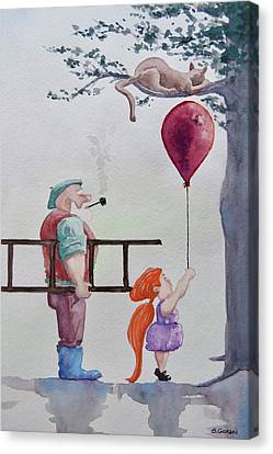 Canvas Print featuring the painting Take It Please by Geni Gorani