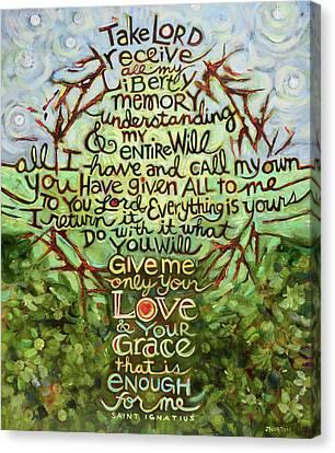 Take Lord, Receive Canvas Print by Jen Norton