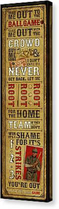 Take Me Out The The Ballgame Canvas Print