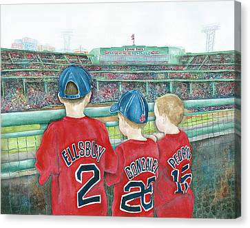 Take Me Out To The Ballgame Canvas Print by Kathie Rocha