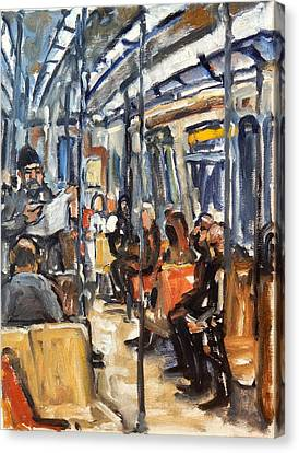 Take The A Train Canvas Print by Thor Wickstrom