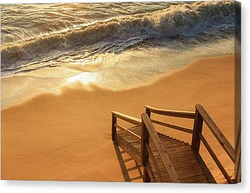 Take The Stairs To The Waves Canvas Print