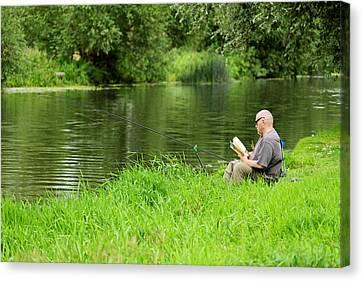 United Kingdom Canvas Print - Taking A Break From Fishing by Rod Johnson