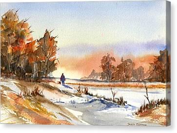 Taking A Walk Canvas Print by Debbie Lewis
