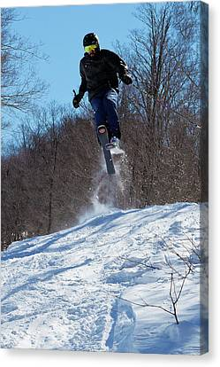 Canvas Print featuring the photograph Taking Air On Mccauley Mountain by David Patterson