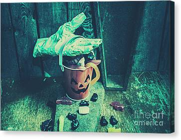 Taking Candy From The Little Monsters Canvas Print by Jorgo Photography - Wall Art Gallery