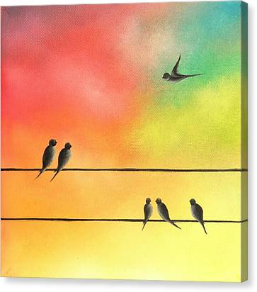 Abstract Art On Canvas Print - Taking Flight by Rachel Bingaman