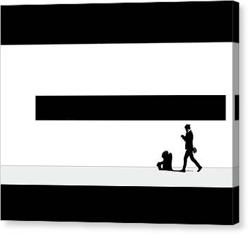 Taking Her Shadow For A Walk Canvas Print by Robert Frank Gabriel