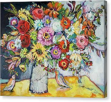 Taking Joy Canvas Print by Sharon Furner