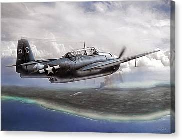 Taking Tinian Canvas Print by Peter Chilelli
