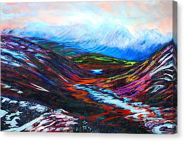 Taku River Headwaters Canvas Print by Faye Dietrich