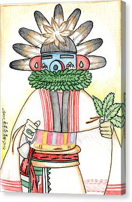 Talavai - Morning Kachina Canvas Print by Dalton James